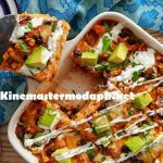 Chicken Enchilada Casserole in home kitchen